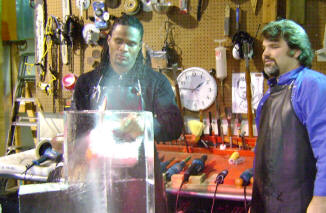 Josh Cribbs of the Cleveland Browns  spent the day at our studio.