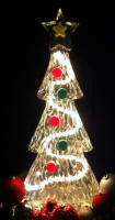 CHRISTMAS TREE ice carving with lights ice sculpting - Copy