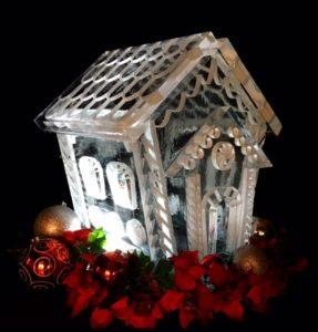 Ginger Bread House Ice Sculpture
