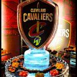 Cavs Double Sided Logo on Sushi Round