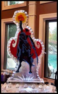 Headless horseman Ice Luge with color