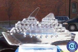 Cruise ship Ice Sculpture