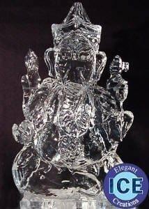 GANESH 3D Ice Sculpture