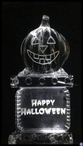 Pumpkin ice Luge on Happy Halloween