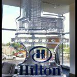 Hilton Ice Sculpture With Color