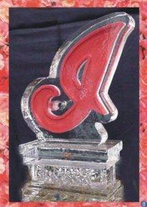 Cleveland Indians Ice Sculpture with Color