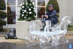 Sleigh Large Ice Sculpture
