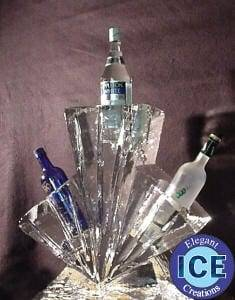 Half Block Ice Vodka Rack