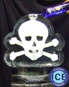 skull ice luge