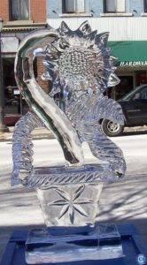 sunflower ice sculpture