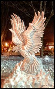 Eagle 4 block ice carving