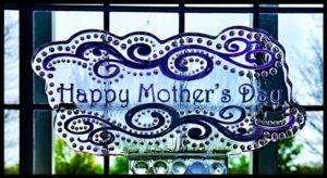 Happy Mother's day flourish 1 block