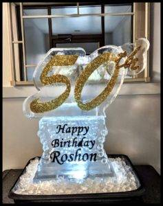 50 happy birthday with Glitter 1 Block