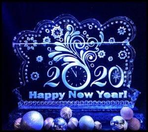 New Years Eve Festive Clock 1 block