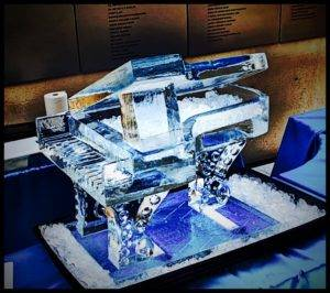 Ice Piano Display